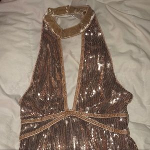 NWT Free People rose gold sequin dress in size 2